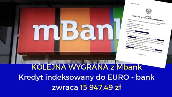 """BRE Bank i jego """"multiplan"""" w EUR  – odzyskujemy z UNWW 15 947,49 zł"""