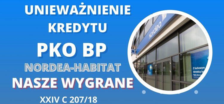 Unieważnienie kredytu PKO BP (NORDEA-HABITAT) – Kolejna nasza wygrana w SO w Warszawie