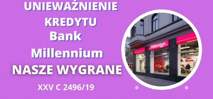 Unieważnienie kredytu Bank Millennium w SO w Warszawie na 1 ROZPRAWIE!