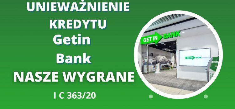 Unieważnienie kredytu frankowego Getin Bank w 7 miesięcy (ciekawe zeznania świadka banku)
