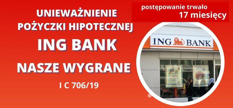 Umowa pożyczki hipotecznej ING nieważna – kolejna nasza wygrana w Katowicach