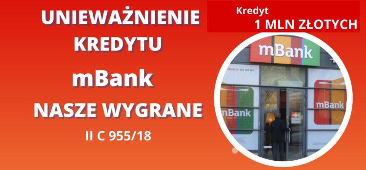 Unieważnienie kredytu mBank – Kolejny raz wygrywamy –  korzystanie z doradcy kredytowego oraz aneks nie są przeszkodą