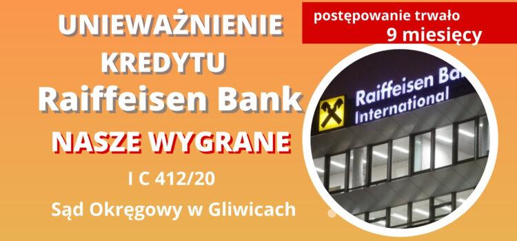 Unieważnienie umowy EFG Eurobank Ergasias S.A. (Raiffeisen BI). WYGRYWAMY na 1 rozprawie