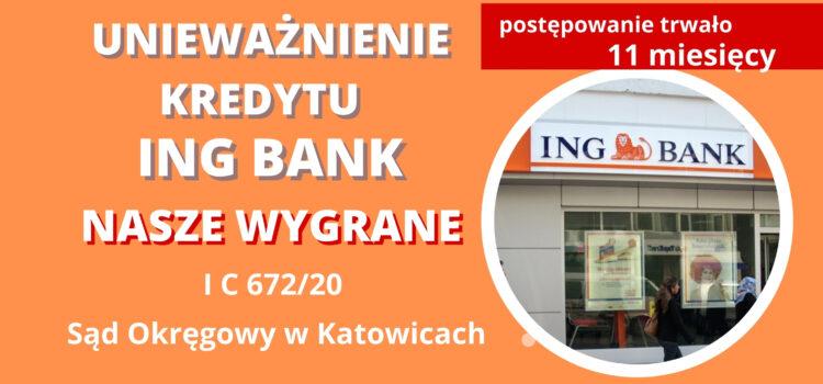 Unieważnienie umowy frankowej ING BANK. Znów wygrywamy z ING w 11 miesięcy
