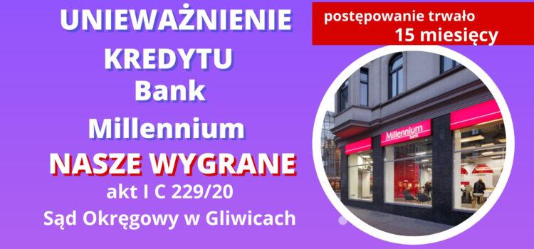 Unieważnienie kredytu Bank Millennium (którym spłacono kredyt PKO BP w złotówkach)