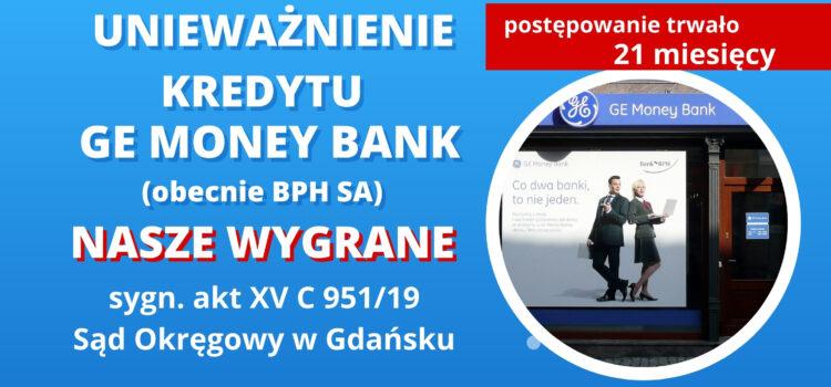 Unieważnienie kredytu GE Money Bank S.A. Wygrywamy tym razem w SO w Gdańsku