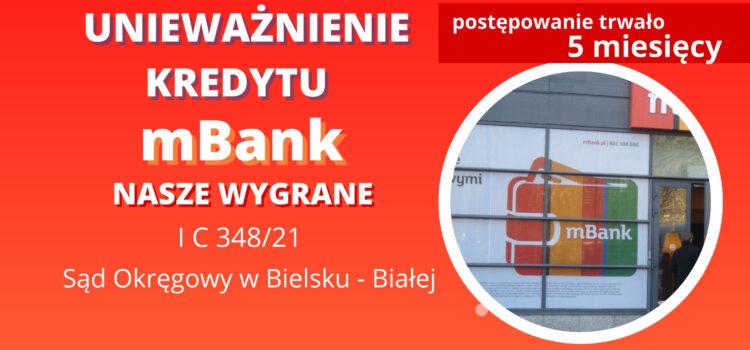 Unieważnienie kredytu frankowego mBank (BRE BANK), którym spłacono kredyt złotowy na 1 ROZPRAWIE!