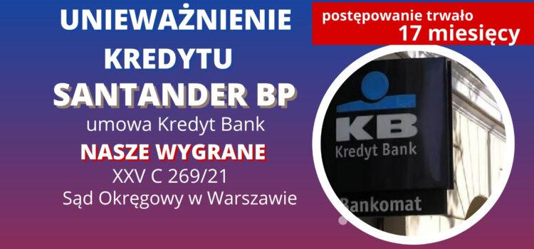 Unieważnienie kredytu – umowa o kredyt we frankach Kredyt Bank (Eklstralokum) – Wygrywamy w SO w Warszawie