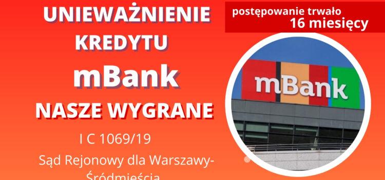 Unieważnienie kredytu mBank pomimo podpisania oświadczenia o ryzyku