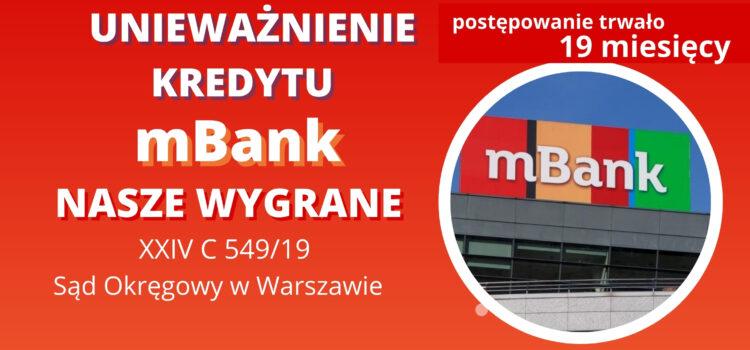 Unieważnienie kredytu frankowego mBank w SO Warszawa