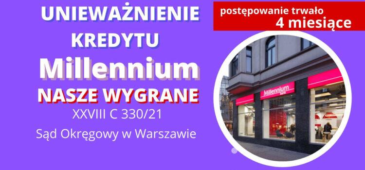 KOLEJNA wygrana w SO w Warszawie w 4 miesiące. EKSPRESOWE Unieważnienie kredytu Bank Millennium