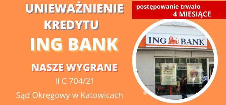 Unieważnienie kredytu ING BANK ŚLĄSKI – Wygrywamy w 4 MIESIĄCE! Po 1 rozprawie