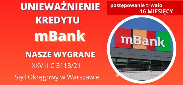 Kolejny raz sprawnie wygrywamy z mBank w SO w Warszawie na 1 ROZPRAWIE